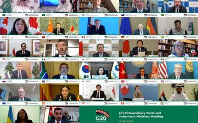 Ministros de G20 apuestan por reformar la OMC para paliar efectos de COVID-19